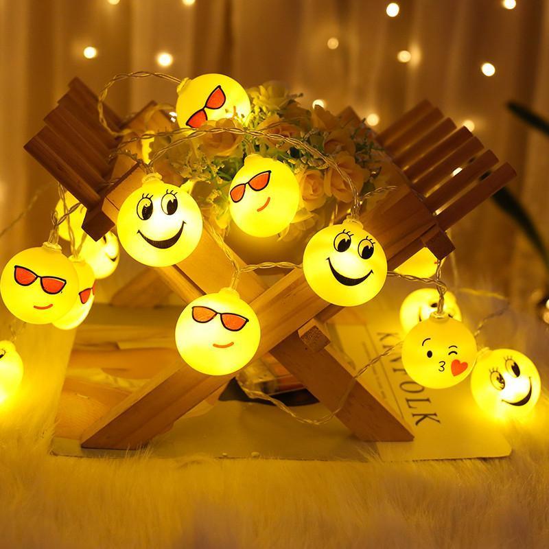 1 .5м 10 из светодиодов Фея прохладный лицо батарейках огни строки огоньки света украшения для рождественской вечеринки свет H316