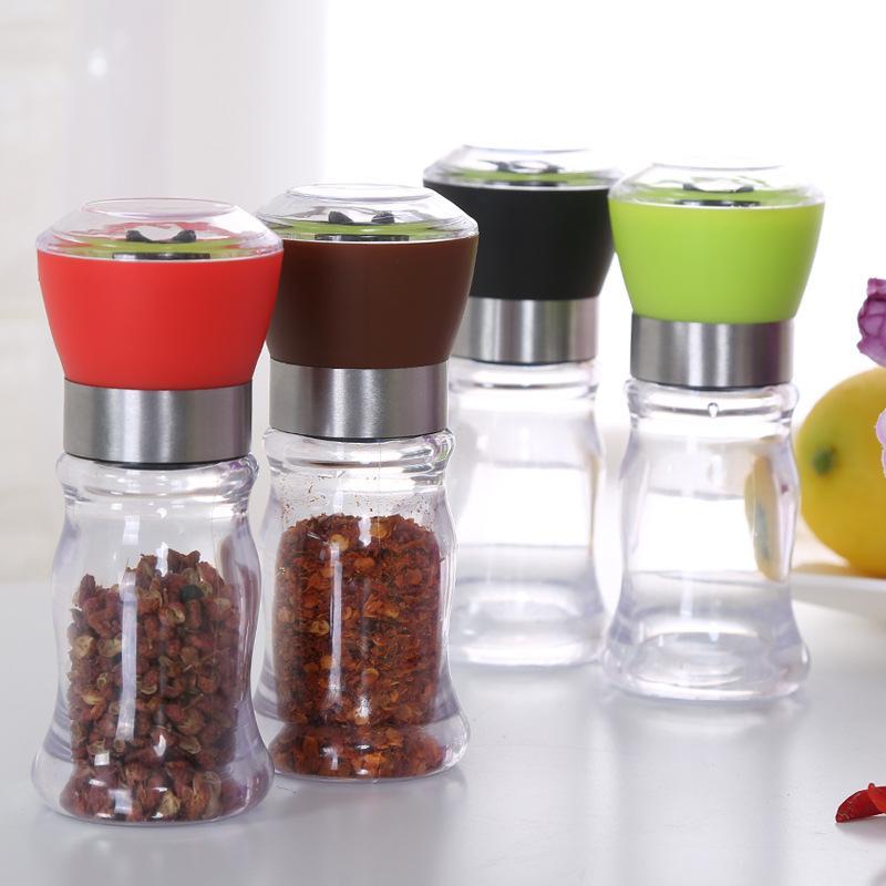 Manuel Tuz Karabiber Değirmeni Öğütücü ABS baharat Muller Seramik Çekirdek Mutfak Pişirme Baharat Gadget Biber Shaker Araçlar Taşlama