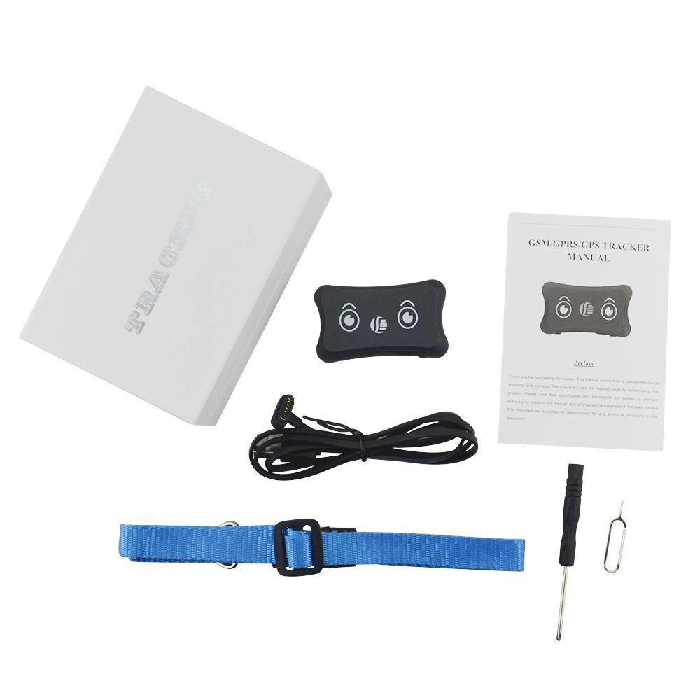 Atacado Mini GPS Tracker GSM / GPRS TK200 Waterproof Dog Rastreador Cat Pet portátil com Collar Anti-perdida real Time Tracking Locator