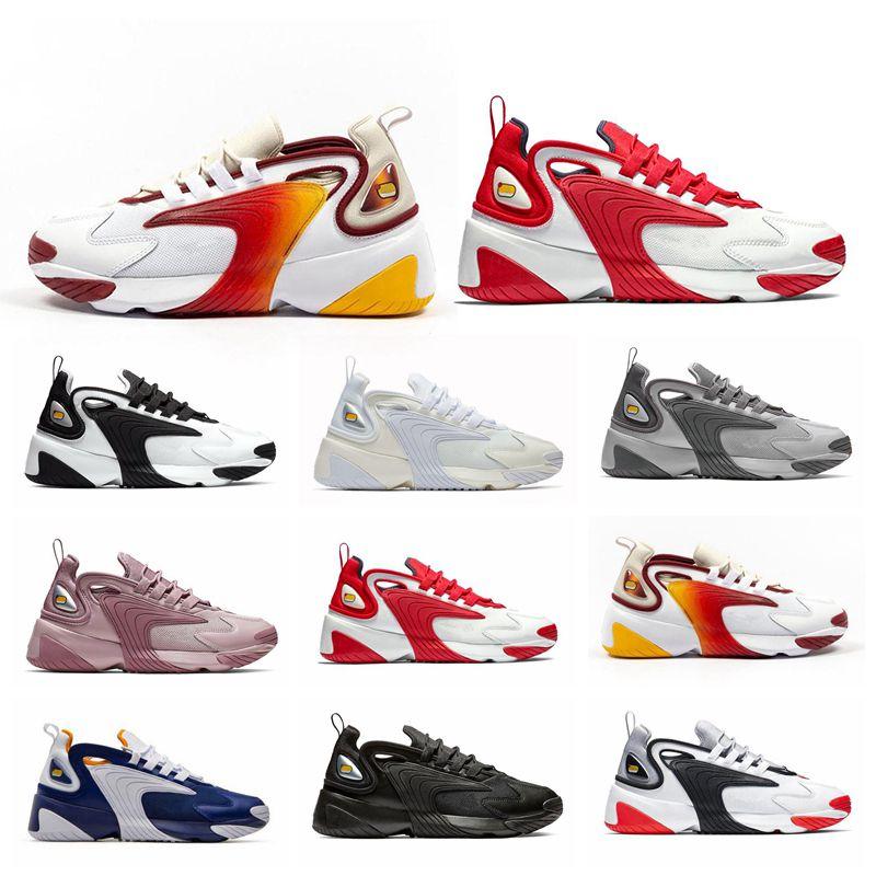 New Rainbow Grey White Red Zoom 2K M2K men running shoes Royal Blue Purple Triple Black for men's women sports sneaker 36-45