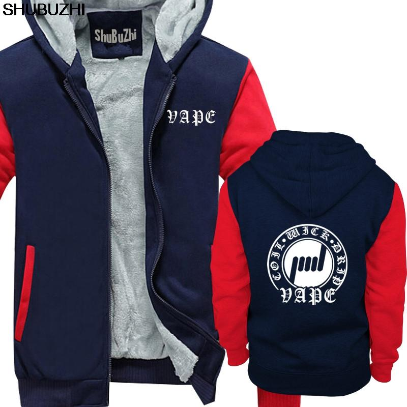 Coil Wick Vape Men's hoodie Men fashion warm jacket male thick hoodie long sleeve Cotton Fitness hoodies sbz1227