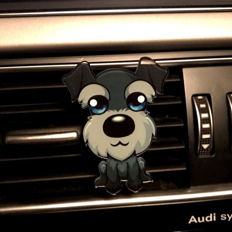 Tomada Car Hot Perfume bonito Automobiles cã Air Freshener Ornament Car Sólidos Fragrance Air Conditioner saída Clipe
