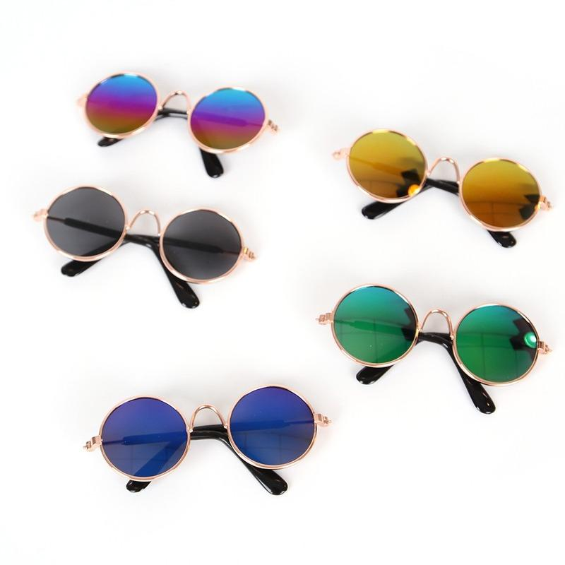 1PC Fashion Lovely Pet Cat Glasses Dog Glasses Pet Products Kitty Toy Dog Sunglasses Photos 3 Cm Pet Accessoires Round Colorful
