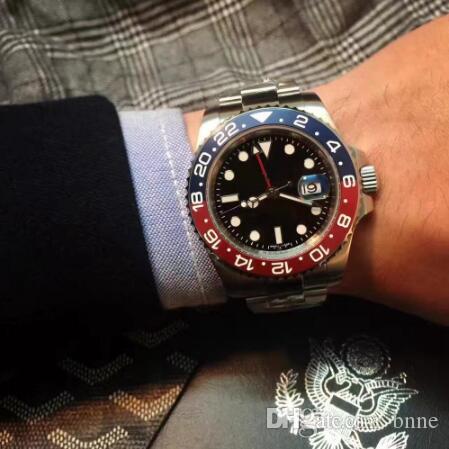relogio originale Montre Homme-Master II Gmt 2813 top Mouvement automatique en céramique Cadran 40MM Noir Bezel marque de luxe montre mécanique pour les hommes