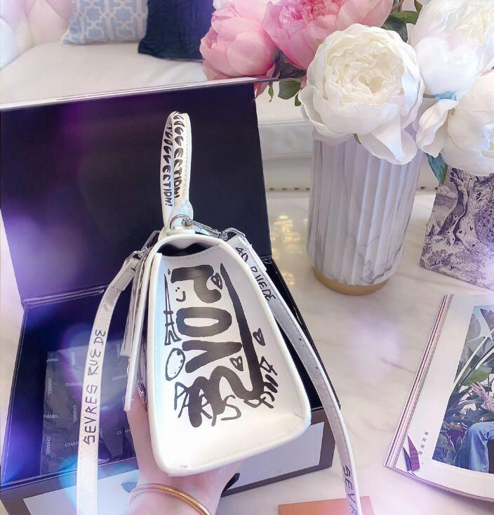 LOGO 2020 neueste Entwerfer-Graffiti-Tasche Luxus-Handtaschen Geldbörsen Großhandel Frauen Designer Crossbody Beutel Marke