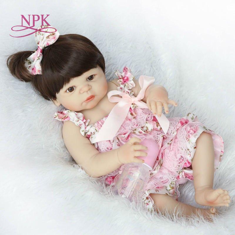 Bebes 57cm Full Body Silicone Girl Reborn Baby Doll Bath Toy Lifelike Newborn Princess Victoria Bonecas Menina Q190530