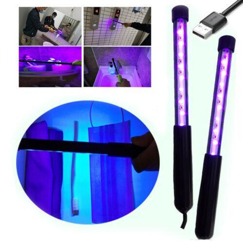 Ev Tuvalet ABD STOK USB Dezenfeksiyon Işık Taşınabilir Sterilizasyon UV-C Işık 3W Antiseptik UV Lambası Ev El dezenfeksiyonu