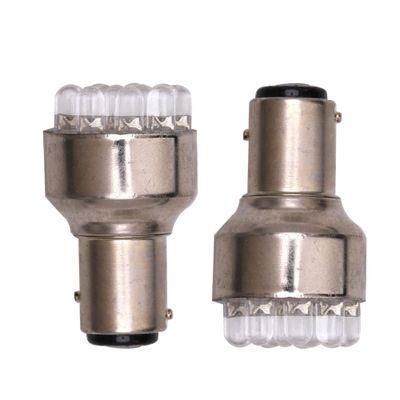 Ampoule De Frein Phare De Phare 1157 BAIE 15D CC 12V Blanc Auto 12x LED Lumière De Voiture 6000-8000K EEA330