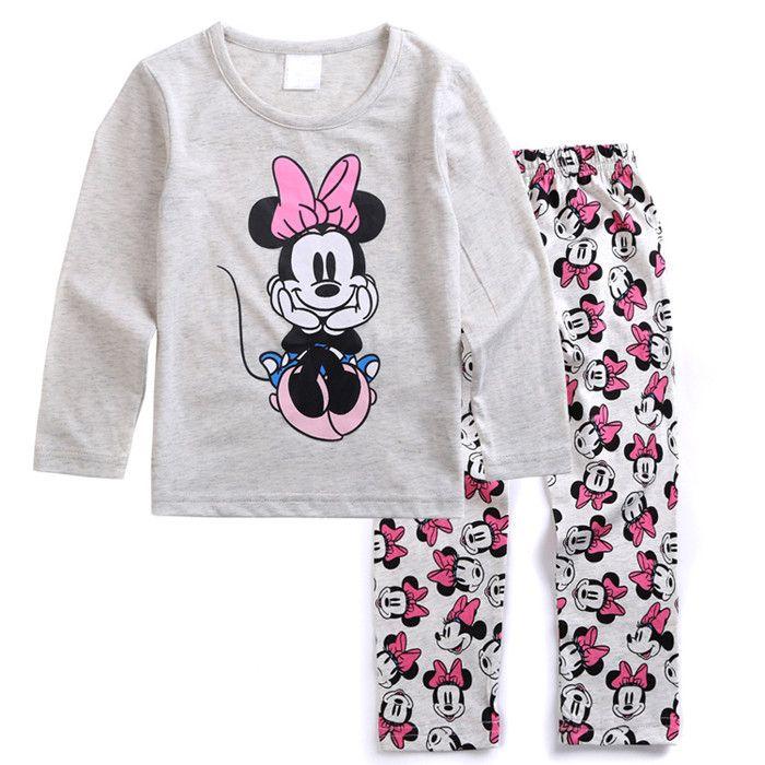 Boys Long Sleeve Pajamas Cotton Cartoon Children Pyjamas Clothing Sets Kids Pijamas Toddler Clothes Suits Baby Girls Sleepwear S