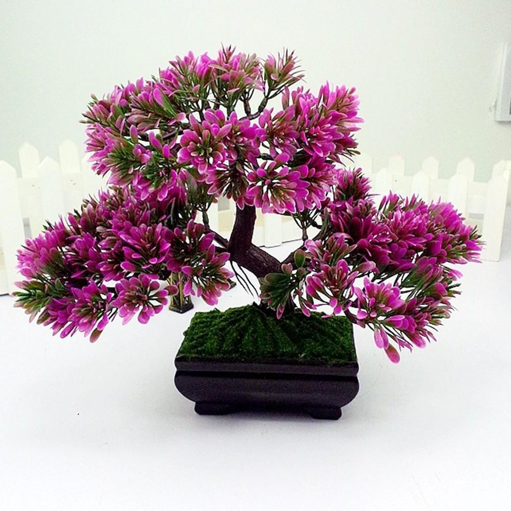 2021 Artificial Bonsai Tree Simulation Plants For Aquarium Green Plastic Plant Pine Home Garden Decoration From Rosaling 22 25 Dhgate Com