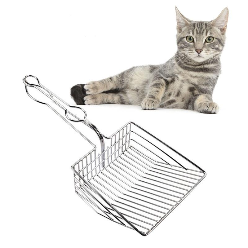 Pet Litter Box Cleaning Cat litter Spoon Stainless Steel Shovel for Home Garden Waste Scooper Pet Cat Litter Box Accessories