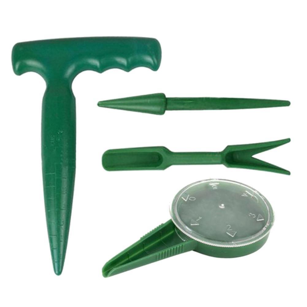 Semillas de herramientas de jardinería Sembradora Mini Mano Plásticos herramientas de jardinería de la flor de la planta de semillero Hierba Cultivar la herramienta de migración de trasplante
