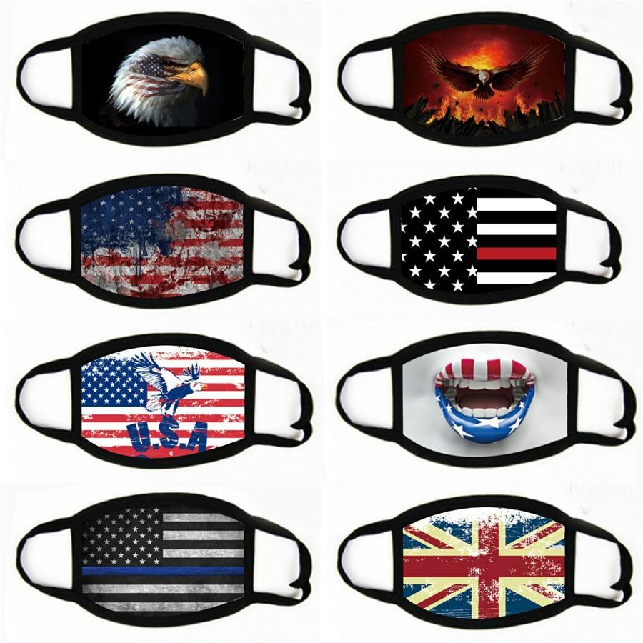 Livraison gratuite! Designer Imprimé Masque Masque de protection lavable visage doux Respirant Trois Couleurs gros Ice Soie Noir # 737 Fac