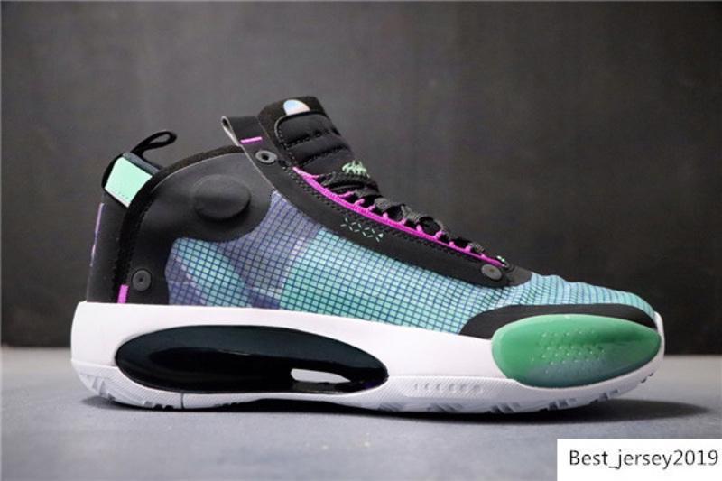 2019 Yeni Geliş Lüks Tasarımcı Marka Jumpman Mavi Void Erkek Basketbol Ayakkabı 34s XXXIII Nefes Açık Spor Sneakers