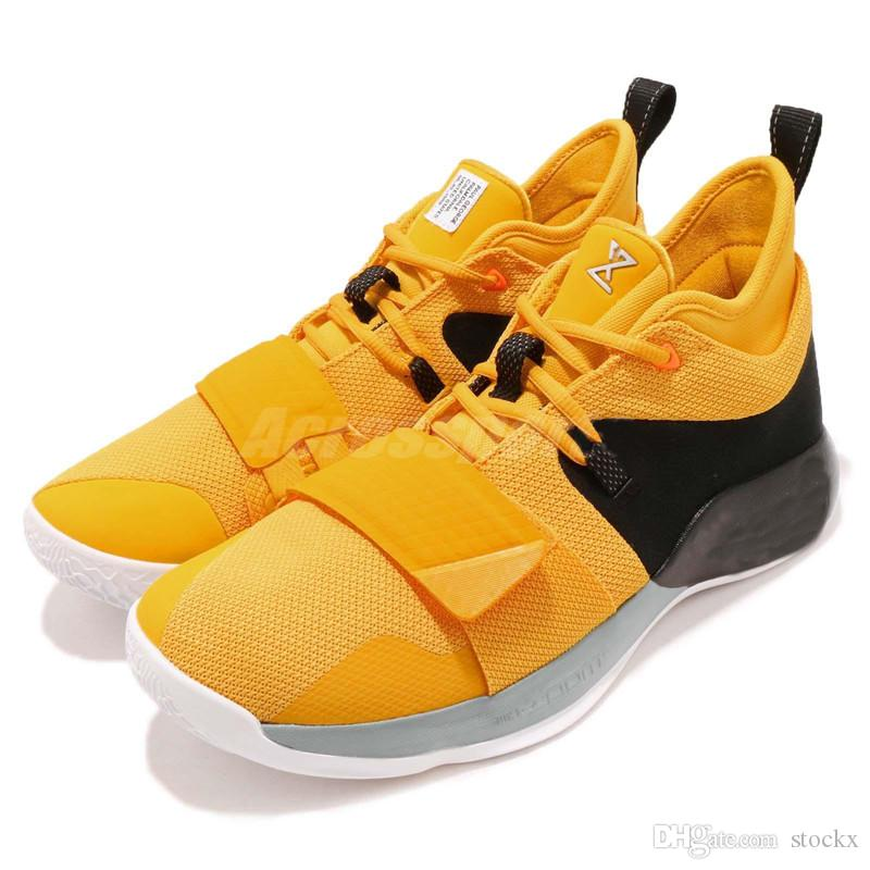 the latest 518e5 4b213 New PG 2.5 EP Paul George Basketball Shoes Moon Exploration Amarillo Yellow  Men Shoes BQ8453 700 For Sale With Box Women Basketball Shoes Men ...