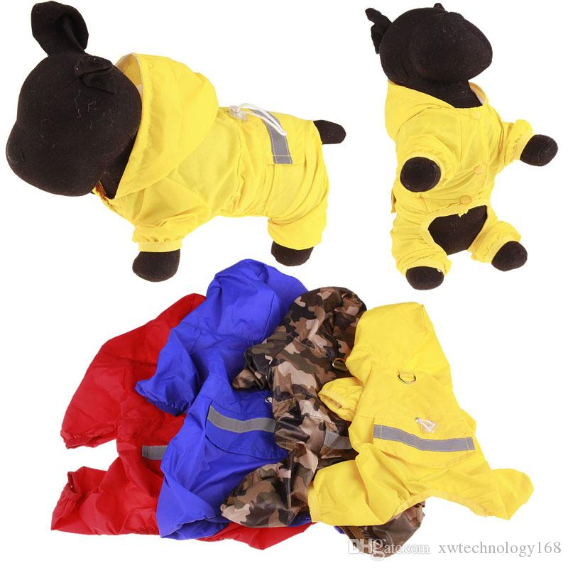 1PCS Fashion Pet Reflective Strip Raincoat Dog Vest Dog Polyester Waterproof Rain Poncho Pet Dog Rain Jacket 3XL 4XL 5XL