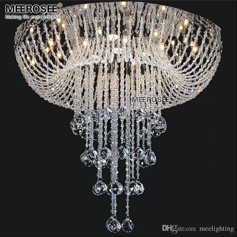 Moderne Cristal Plafond Luminaire Apparent Crystal Light Lustre pour salon chambre cristal de sala Lustres Éclairage