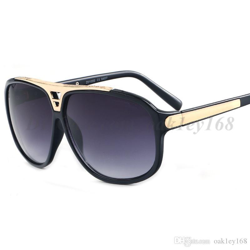 الرجل مصمم النظارات الشمسية ترف النساء مليونير نظارات ريترو خمر حماية UV400 نظارات النمط الكلاسيكي الصيف Z0350