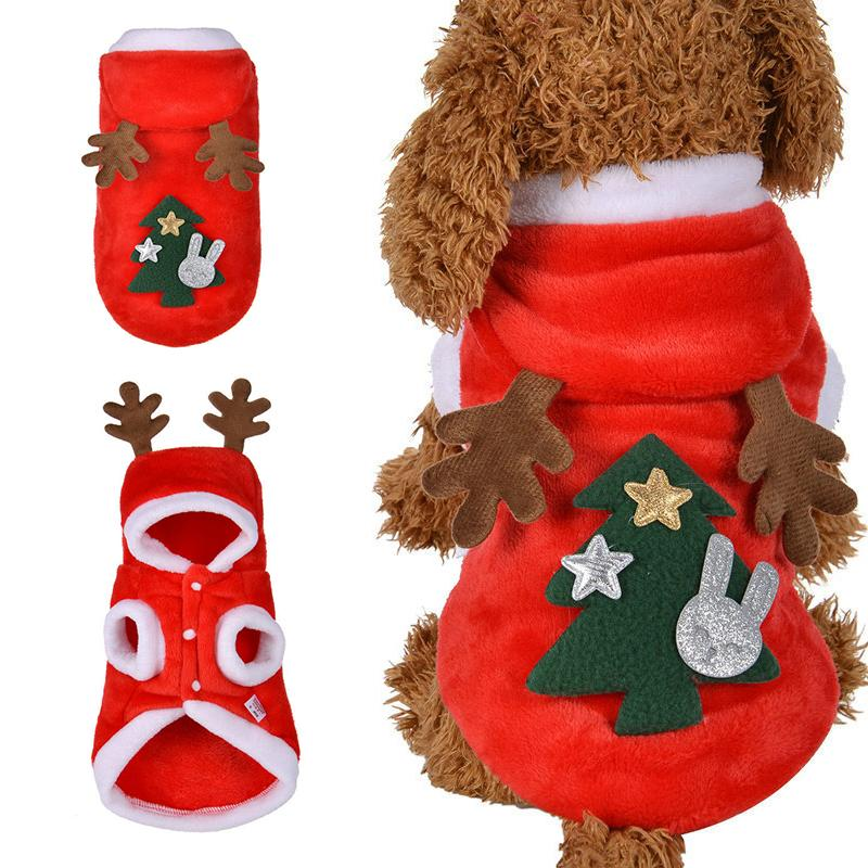New New Christmas Dog Clothes Small Dogs Santa Costume for Pug Chihuahua Yorkshire Pet Cat Clothing Jacket Coat Pets Costume