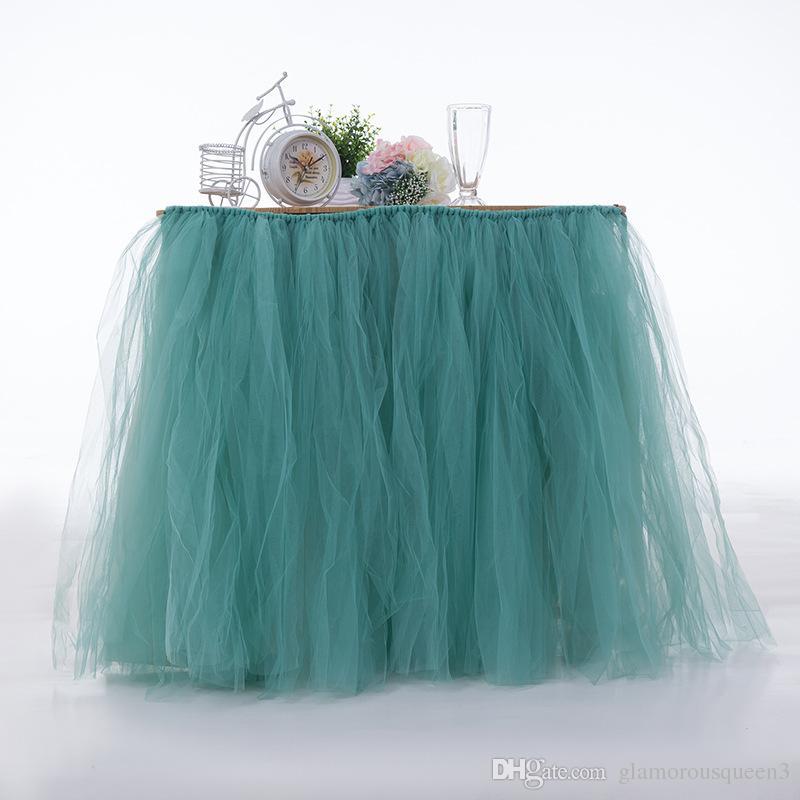 d42ce333afdbe ... 80   100 table jupe maille table jupe décoration de fête d anniversaire  de mariage ...