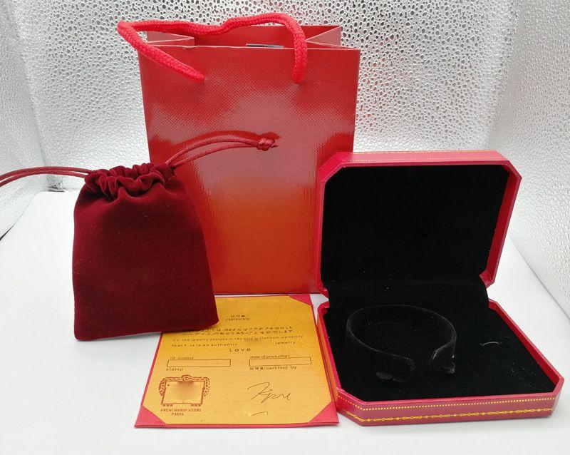 Nouveau Arrivent mode bracelet boîtes sacs emballage bijoux rouge boîte de couleur boîte à bijoux emballage à choisir