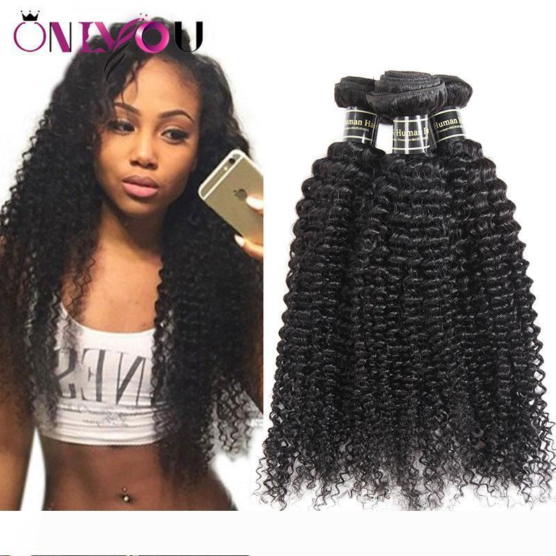 Hot 9a peruanische Jungfrau-Haar verworrene lockiges Menschenhaar-Bundles Günstige brasilianische indische Malaysian mongolische Curly Menschliches Haar Weaves Extensions
