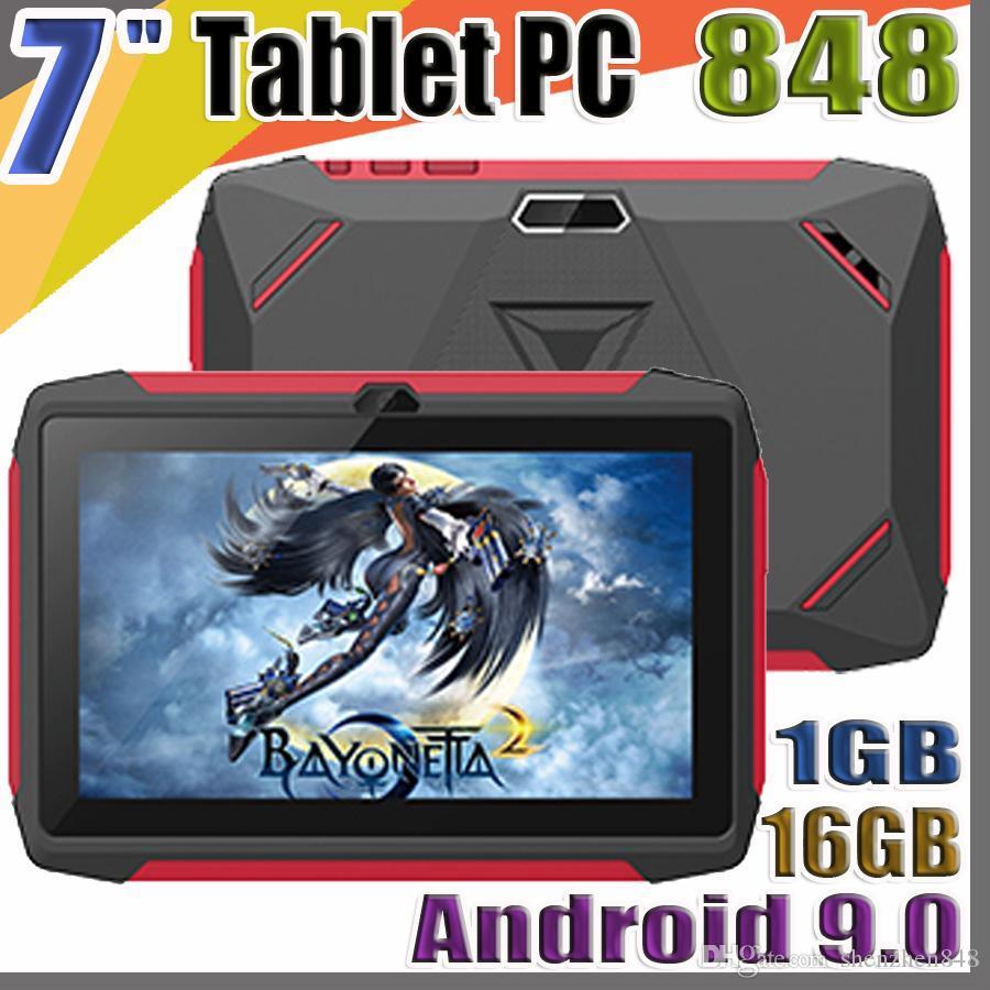 848 مجانا DHL طفل اللوحي Q98 رباعية النواة 7 بوصة 1024 * 600 HD شاشة الروبوت 9.0 AllWinner لA50 الحقيقي Q8 1GB RAM 16GB مع واي فاي بلوتوث