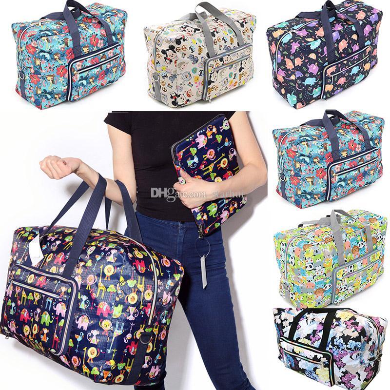 حقائب المحمولة الأمتعة طوي السفر قابلة لإعادة الاستخدام حقيبة التخزين ماء حقائب اليد حقيبة السفر قدرة كبيرة مع WX9-1644 حزام الكتف