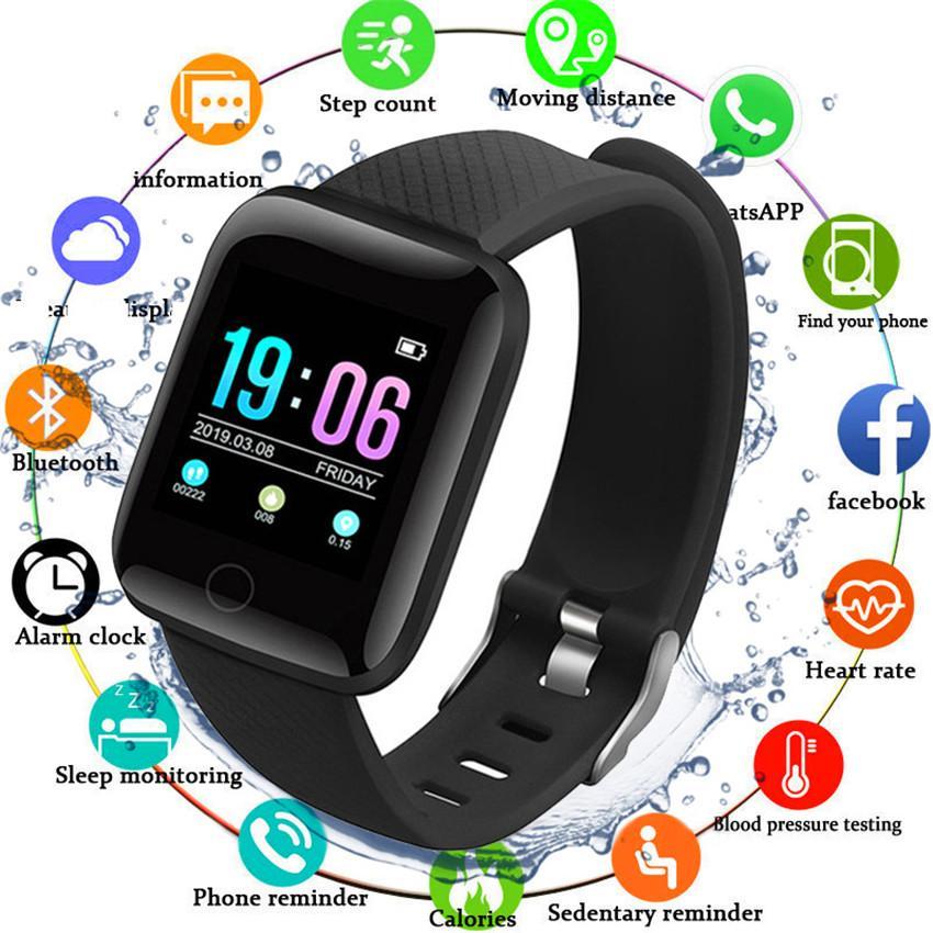 Smart Wristband Moniteur de fréquence cardiaque Smart Fitness Bracelet Pression Artérielle étanche IP67 Fitness Tracker Montre femme Homme