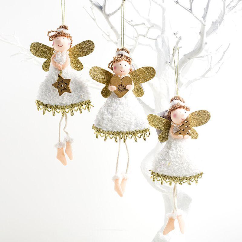 Brinquedo Boneca Anjo De Natal Árvore De Natal Pingentes Enfeites Decoração De Casa pendurado L
