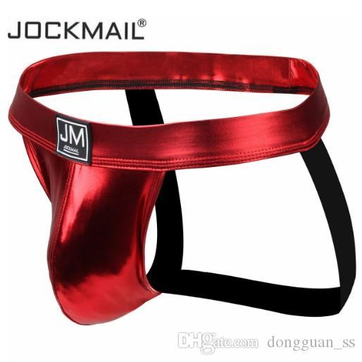 Jockmail Sexy Men Underwear Jockstrap Male Thongs And G Strings Enlarging Cockring Cuecas Gay Men Underwear Penis Poins