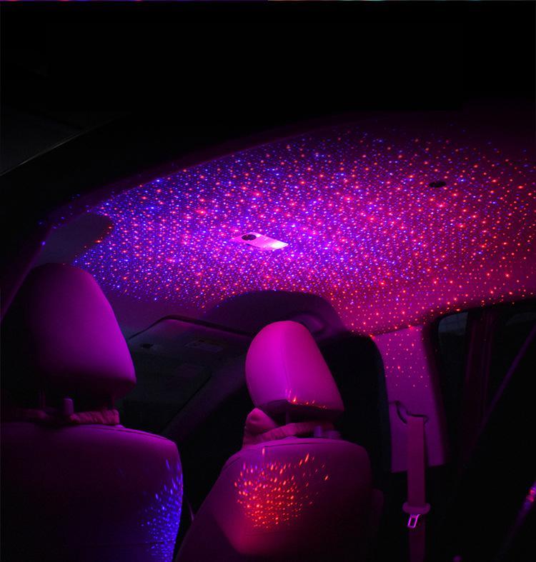 소매 상자 무료 배송 상자 빛 자동차 지붕 천장 별 빛이 반짝 효과 네온 빛 레이저 램프 팔걸이 로맨틱 주위 분위기