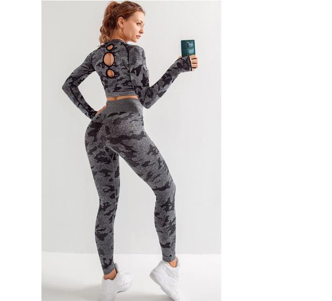 Бесплатная доставка женская спортивная одежда йога набор фитнес тренажерный зал одежда работает теннисная рубашка+брюки йога леггинсы бег трусцой тренировки спортивный костюм 20042001W