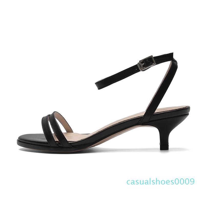النساء الصنادل 2019 مضخات الصيف منخفض كعب slingback الفاخرة الإناث خنجر أحذية السيدات المفتوحة اصبع القدم الكاحل مصمم الأزياء حزام C09