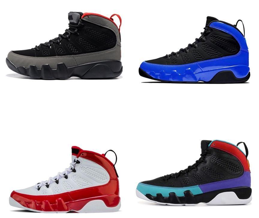 Características Racer reflexiva de las partes superiores Jordán NakeskinJordánZapatos de baloncesto retro 9s Zapatos Racer azul reflectante 3M 9 de baloncesto del Mens