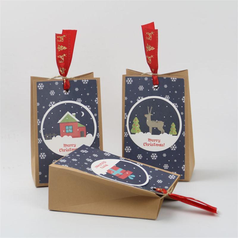 30 Restaurant Fête Candy Enfants Paper Sac De Stockage Dessert Pièces d'anniversaire De Noël Emballage de Noël LNSRP