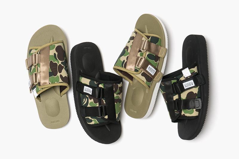 Un nuevo baño x Suicoke Mastermind JAPÓN X del cráneo zapatillas de playa de color verde oliva MMJ Hombre y mujeres amantes de la moda sandalias ocasionales 36-45