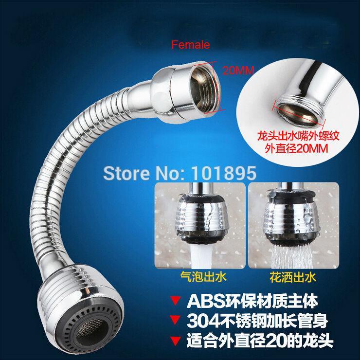 Mutfak Musluk Havalandırıcı ABS Püskürtme Esnek Boru 360 Derece Dönüş 20MM 22MM 24mm Konu Nut