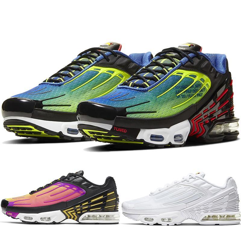 New Tuned Mercuial TN Plus III 3 OG Ultra Hommes Chaussures de course Homme Resp Sport Run Formateurs Noir Blanc Araignée Sneakers CU4710-400