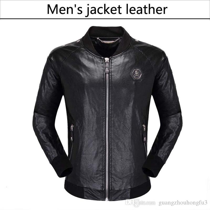 2018 New Mens Jackets PU Clothing Locomotive Men Clothing Coat Men'S Leather Jacket Motorcycle Overcoat For Male Chaqueta