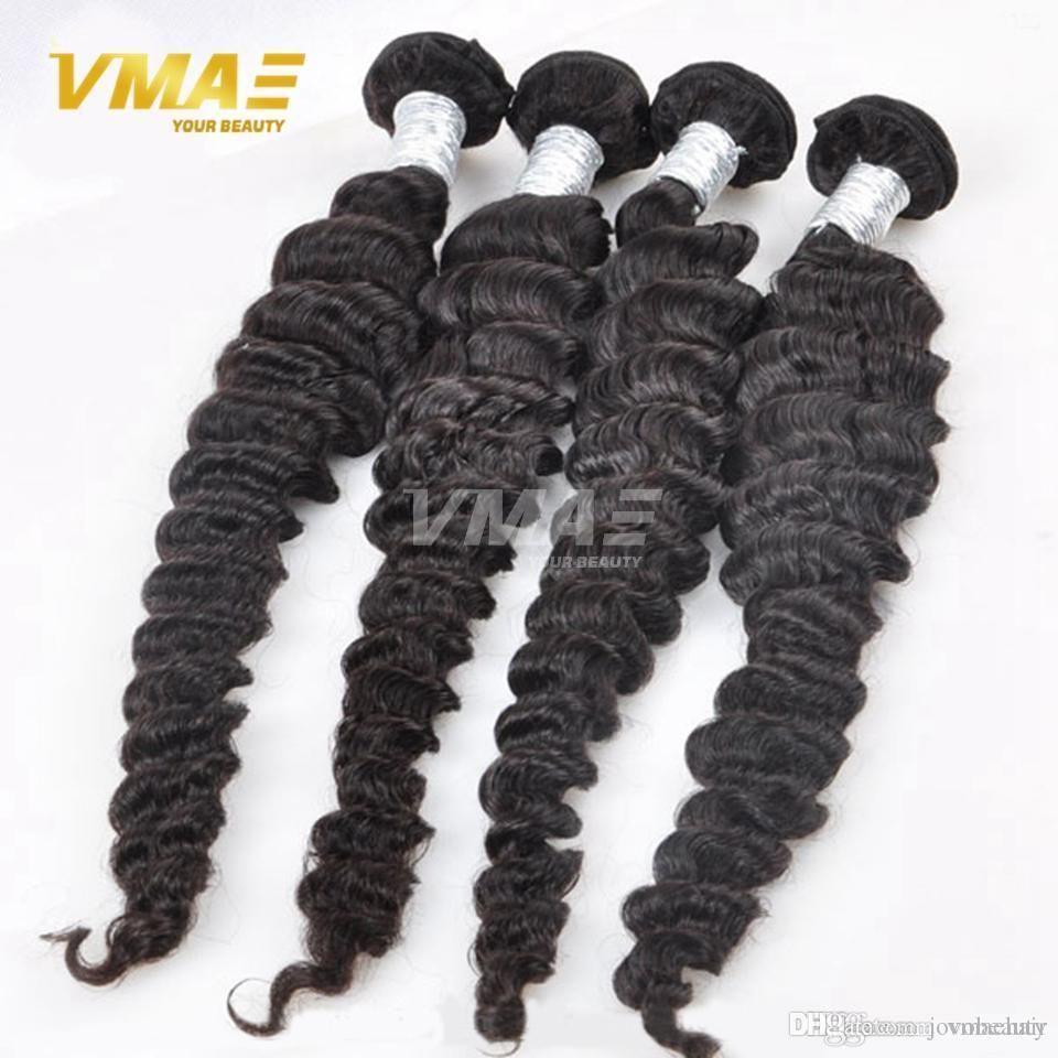 Brazilian Deep Wave Virgin Brazilian Hair Bundles 3pcs Lot 100% Curly Virgin Hair Factory Selling Cheap Hair Weave Online opp