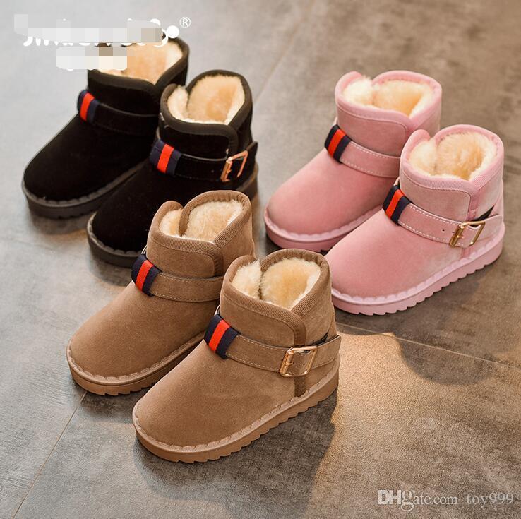 Dei nuovi bambini di Winter Snow Boots Australia stile impermeabile in pelle di mucca pelle scamosciata ragazze di inverno all'aperto Stivali Marca Dimensioni EUR 25-35