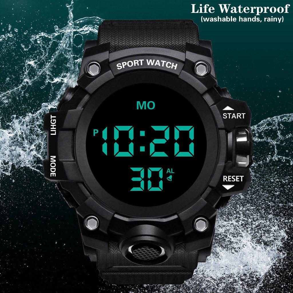 Luxury Mens Digital LED Watch Date Sport Men Outdoor sport watch Electronic digital gifts Men's wrist luminous for s