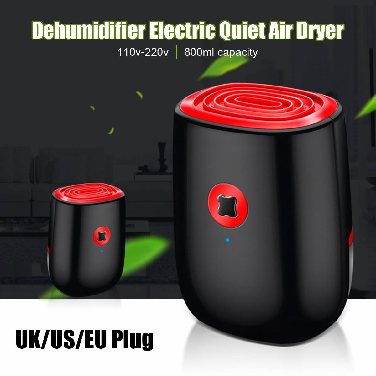 800ml elétrica Air Dehumidifier Para Casa 25W Mini Household desumidificador portátil dispositivo de limpeza Secador de ar Moisture Absorber