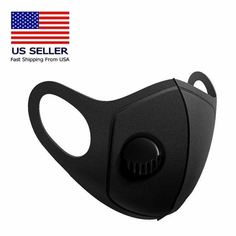 Lavable de algodón de la cara Máscara de lujo de tela Boca Máscara Negro del polvo anti PM2.5 filtros de aire de máscara de tela protectora reutilizable