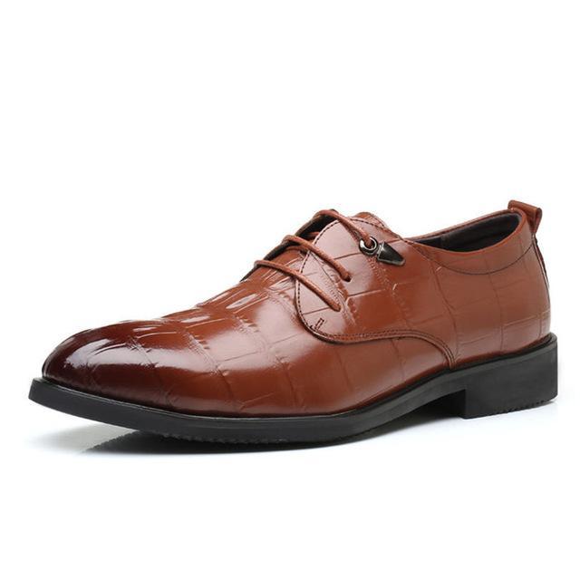 Ретро Мужчины Скольжения На Платье Обувь Острым Носом Британский Стиль Роскошный Крокодиловый Узор Кожа Офис Оксфорд Обувь Для Мужчин
