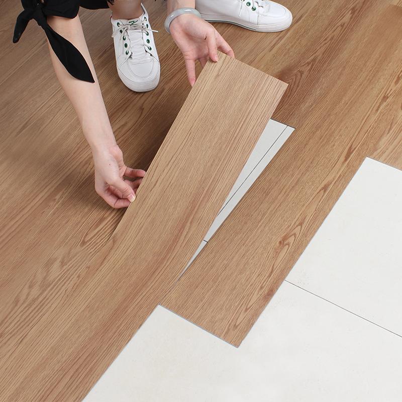Zemin çıkartmaları PVC ahşap kendinden yapışkanlı plastik zemin çıkartmalar aşınmaya dayanıklı su geçirmez süsleme dekorasyon ev yatak odası oturma odası
