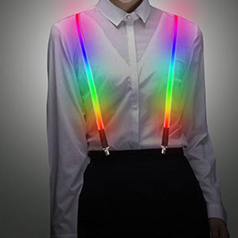 Elastico per adulti LED bretella luce sui pantaloni cinghia cinghie bretella colorato Cambia colore unisex del partito della decorazione di Natale
