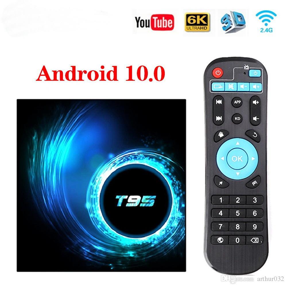 T95 Smart TV Box Android 10.0 4GB 32GB 64 Allwinner H616 Quad Core 1080P H. 265 4K Media player 2GB 16GB Set top box