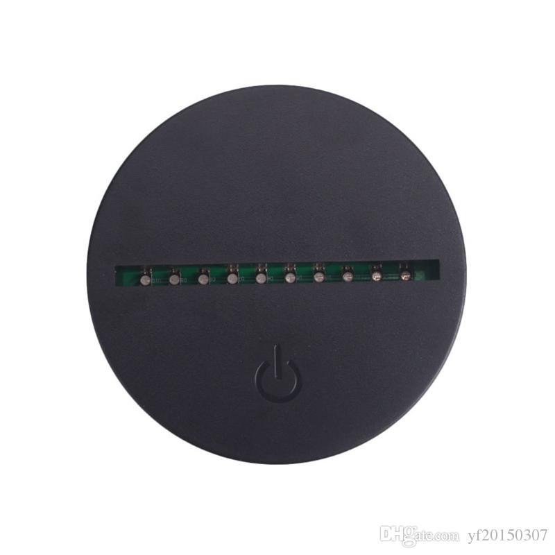 Кабель USB Сенсорные Лампы Базы для 3D LED Ночной Свет Замена Лампы База Украшения Стола Лампа Держатель